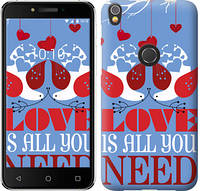 "Чехол на iPhone X Love is all you need ""3462c-1050-9422"""