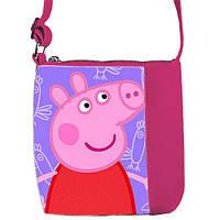 Розовая сумка для девочки с принтом Свинка пеппа