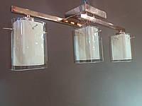Люстра золотистая на три плафона 1129G, фото 1