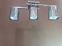 Люстра хромированная на три плафона 1129G, фото 1