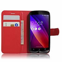 Чехол для Asus Zenfone Go ZB452KG / ZB450KL  X014D книжка кожа PU красный