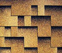 Битумная черепица KATEPAL Super Rocky, золотой песок, 3 м.кв./упаковка