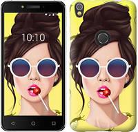 """Чехол на iPhone X Девушка с чупа-чупсом """"3979c-1050-9422"""""""