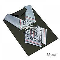 Женский кросс-галстук с вышивкой «Млада», фото 1