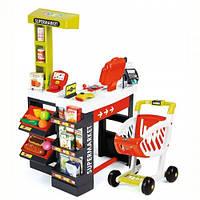 Супермаркет детский игровой электронный с тележкой звуком и светом Smoby 350210, фото 1