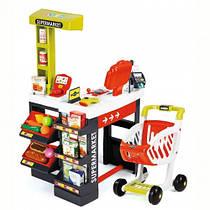 Супермаркет детский игровой электронный с тележкой звуком и светом Smoby 350210
