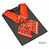 Женский кросс-галстук с вышивкой «Мавка»