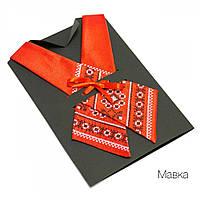 Женский кросс-галстук с вышивкой «Мавка», фото 1