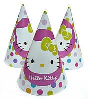 Колпак праздничный 15 см Hello Kitty 20 штук