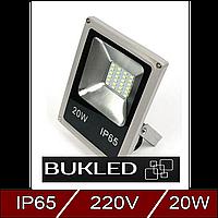 Светодиодный прожектор 20 Вт, 220 В, led flood light slim, холодного свечения