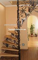 Кованная винтовая, поворотная лестница междуэтажная.