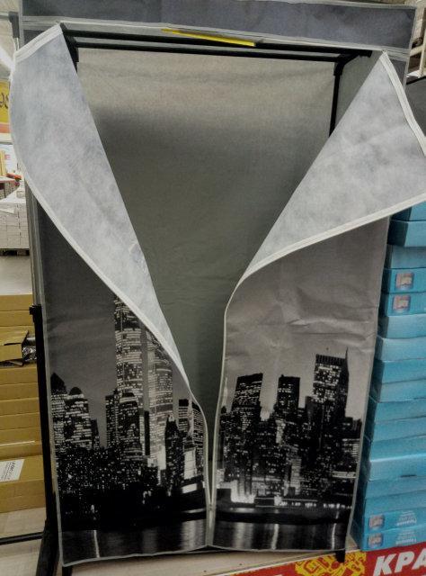 Гардероб текстильний для одягу з бічними кишенями