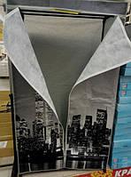 Гардероб текстильный для одежды с боковыми карманами