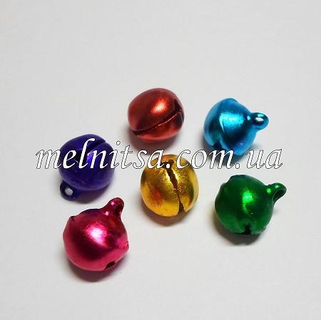 Бубенцы  цветные,  блестящие, 10 мм, 5 шт.