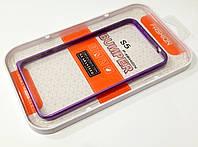 Чехол бампер металлический Fashion для Samsung Galaxy S5 i9600 / g900 фиолетовый