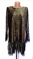 Велюровое женское короткое платье