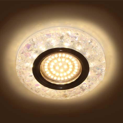 Светильник встраиваемый с LED подсветкой Feron 8585-2  белый под лампу Mr16
