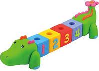 """Сортер """"Крокоблоко"""" резиновый с цифрами K's Kids 6m+"""