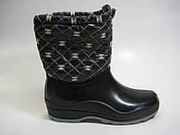 Резиновые ботинки черного цвета, фото 1