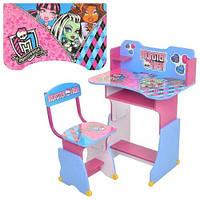 Регулируемая детская парта 599 Monster High со стульчиком KHT/56-34
