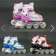 Детские ролики 9001 «М» - Best Rollers (размер 35-38см) раздвижные, 3 цвета KHT