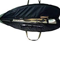 Чехол для ружья c оптикой LeRoy Protect Optic (двойная защита) 1,2 м Чёрный, фото 3