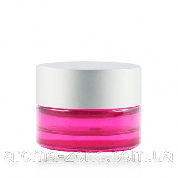 Баночка стеклянная ( розовый )   , 5 мл.