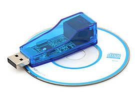 Сетевая карта USB - Lan RJ45 синяя