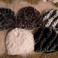 Женская шапка из меха кролика рекс