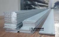 Алюминиевая пластина 25х2, анод серебро