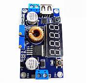 Понижающий импульсный модуль питания  с вольтметром для зарядки литиевых аккумуляторов, фото 1