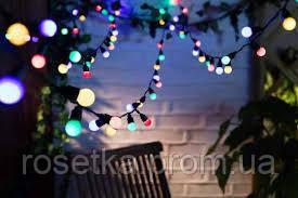 Светодиодная гирлянда-штора для дома 120 LED 1.8*1.15 м. на черном проводе, теплый белый и разноцветный, фото 1