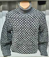 Мужской свитер нарядный светло серый,