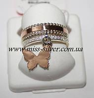 Кольцо-бабочка из серебра Butterfly