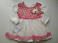 Детское нарядное велюровое платье