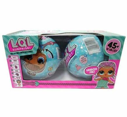 Кукла LOL, LQL (ЛОЛ) Набор 2 больших шара