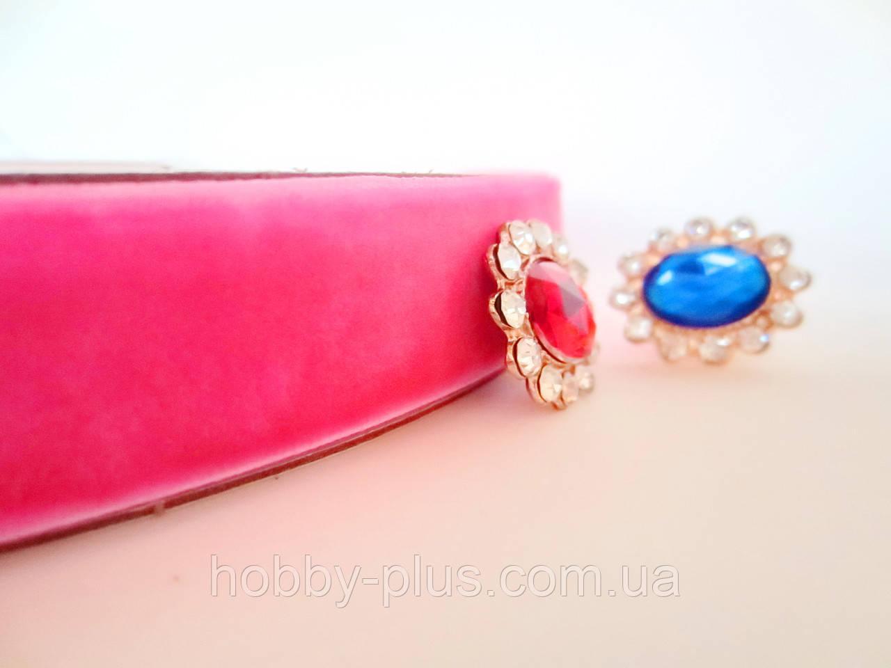 Лента бархатная, 2 см, цвет розовый, 1 м.