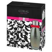 Парфюмированная набор женский Coral  п/в 95 мл и дезодорант 175 мл жен Prive Parfums