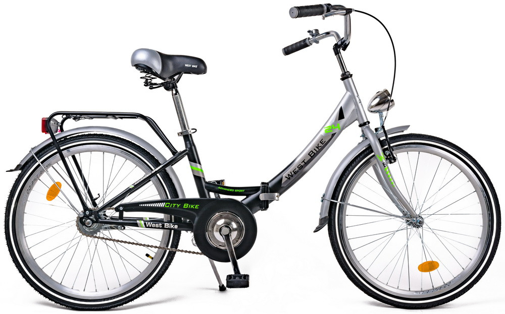 """Велосипед складной 24"""" West Bike для подростков и взрослых (Польша)"""