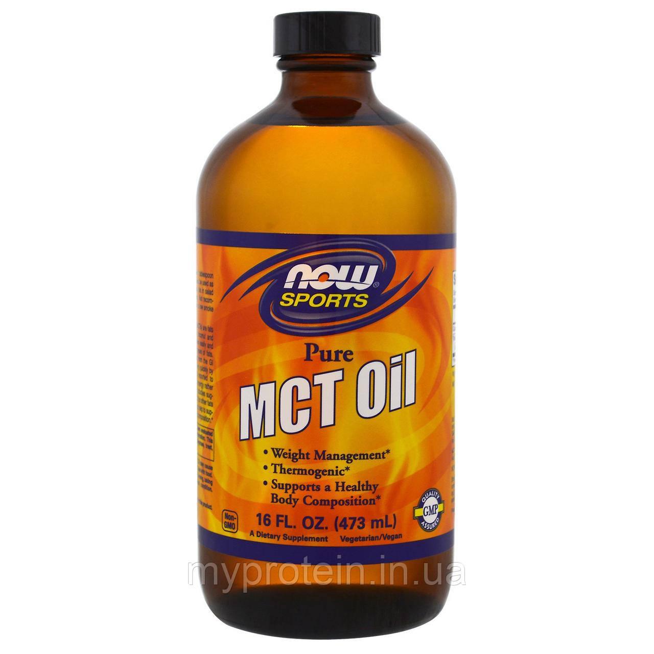 NOW масло со среднецепочечными триглицеридами MCT Oil 473 ml