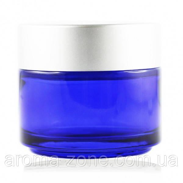 Баночка стеклянная ( синий  )   ,100 мл.