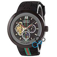 Черные часы гучи, часы унисекс Gucci