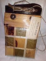 Эксклюзивная записная книжка из натур.листьев, фото 1