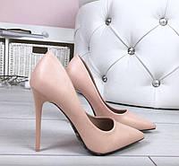 Туфли женские Лодочки Пудровые на шпильке 35, 36, 37, 38, 39, 40