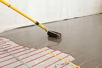 Нагревательного кабеля в стяжку
