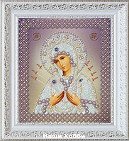 """Набор для вышивания бисером Р-328 Икона Божией Матери Семистрельная"""" (серебро)"""