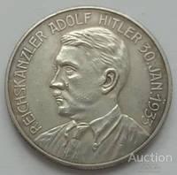 Германия. Третий Рейх. настольная медаль Гитлер 1933 год