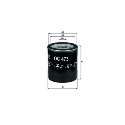 Фильтр масляный KNECHT OC136 (ОP 566/2)