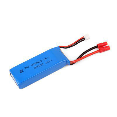 Аккумулятор 7,4V и емкостью 2000mAh для Jxd507W, Jxd507G (размеры в описании)