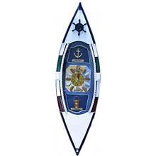 Ключница настенная Лодка с часами